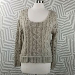 Free People Size Small Mohair Wool Blend Tan crop